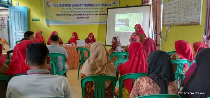 BLUD Puskesmas Madani Bandar Petalangan Gelar Sosialisasi SMD