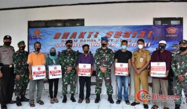 Warga Bogor Timur Dapat Bansos di HUT TNI ke-75
