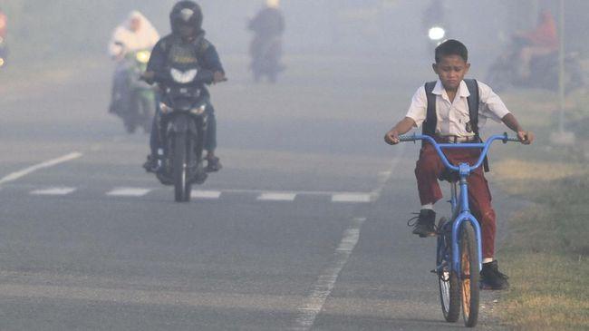 Disdik Memperpanjang Libur Sekolah di Pekanbaru, Akibat Asap yang Masih Tebal