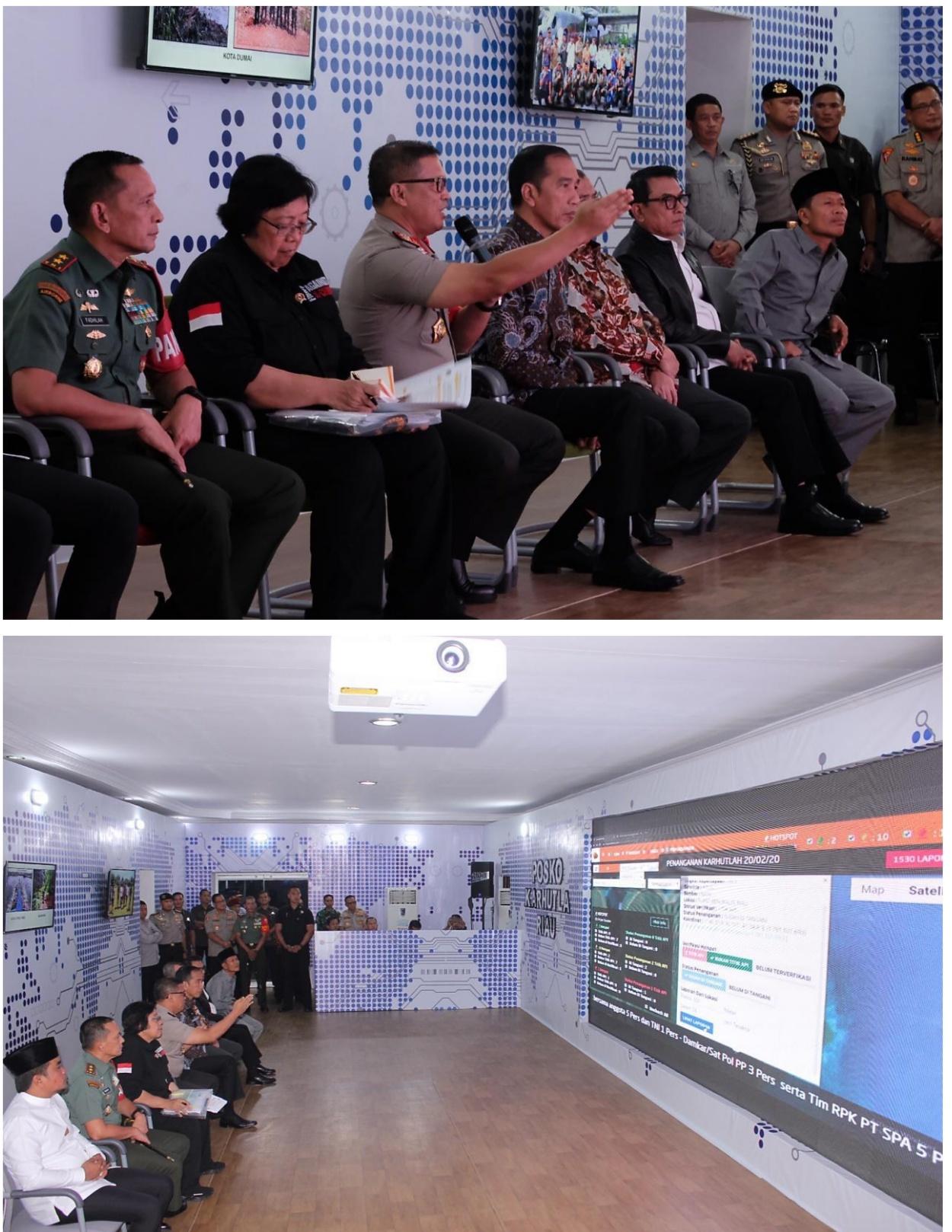 Jokowi Puji Kapolda Riau Terkait Sistim Kerja Dashboard Lancang Kuning Penanganan Karlahut