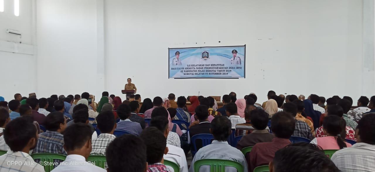 Pemda Pulau Morotai Selenggarakan Uji Kelayakan Bagi Calon Anggota BPD