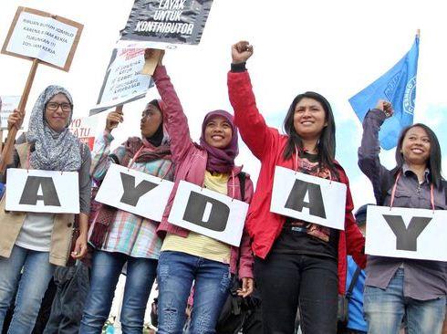 May Day, Jurnalis Ikut Tuntut Kenaikan Upah