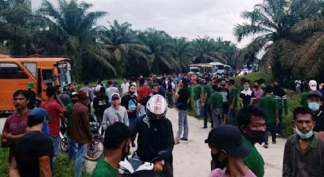 Perumahan Karyawan PT Langgam Harmoni di Siak Hulu Dijarah