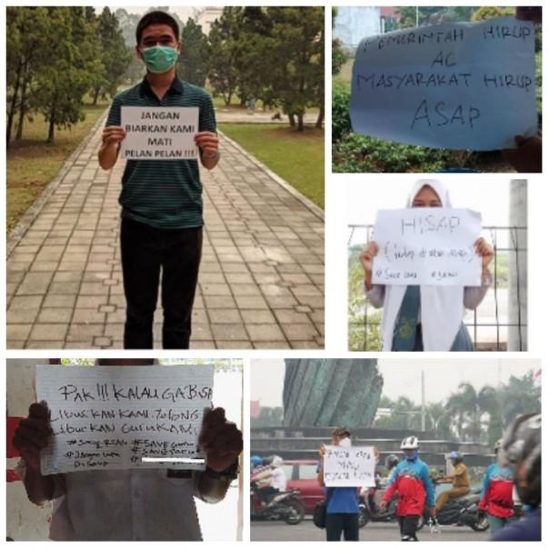 Netizen Menyampaikan Keluhannya kepada Gubernur Riau Terkait Asap Yang Menyelimuti Riau