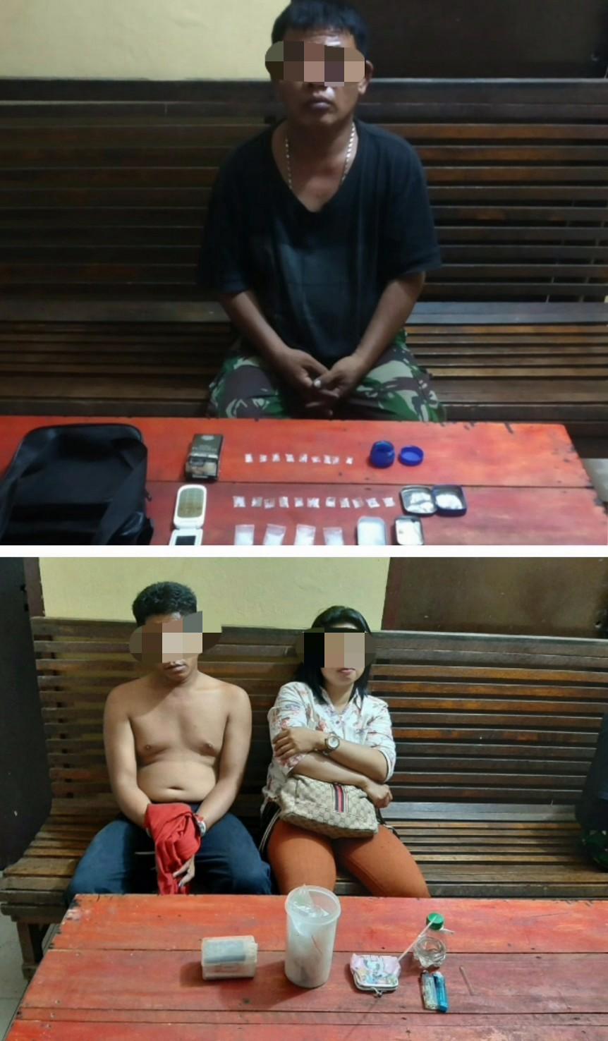 Sedang Transaksi Narkotika,  Polsek Bagan Sinembah Ciduk Dua Pria dan Satu Wanita