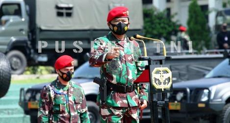 Sambangi Tiga Markas Pasukan Khusus, Panglima TNI: Komando...Komando...Komando