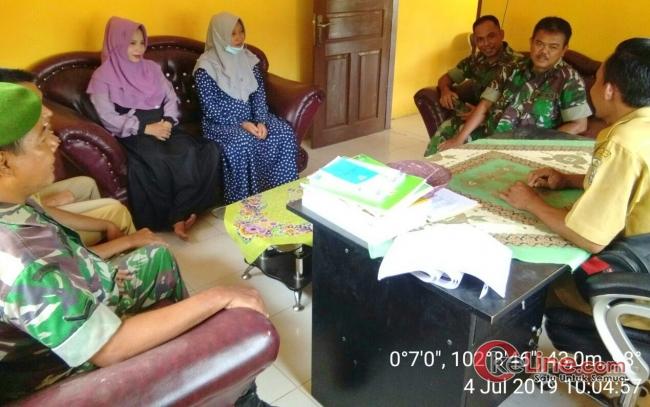 Koramil 03/Bunut Laksanakan Giat Komsos ke Desa Air Terjun