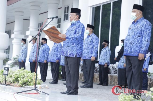 Jhon Hardi Nasution Pimpin Upacara Peringatan Hari Kesadaran Nasional Tahun 2020
