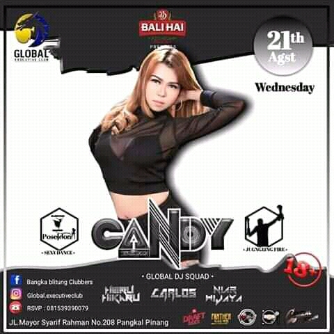 FDJ Candy Akan Guncang Panggung Global Executive Club and Bar Pangkalpinang