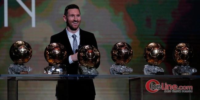 Leo Messi Kembali Ukir Sejarah, Orang Pertama di Dunia yang Sabet 6 Trofi Balon DOR