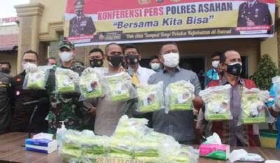 Polres Asahan Ungkapan Sabu Seberat 28 Kg di Tanjung Balai