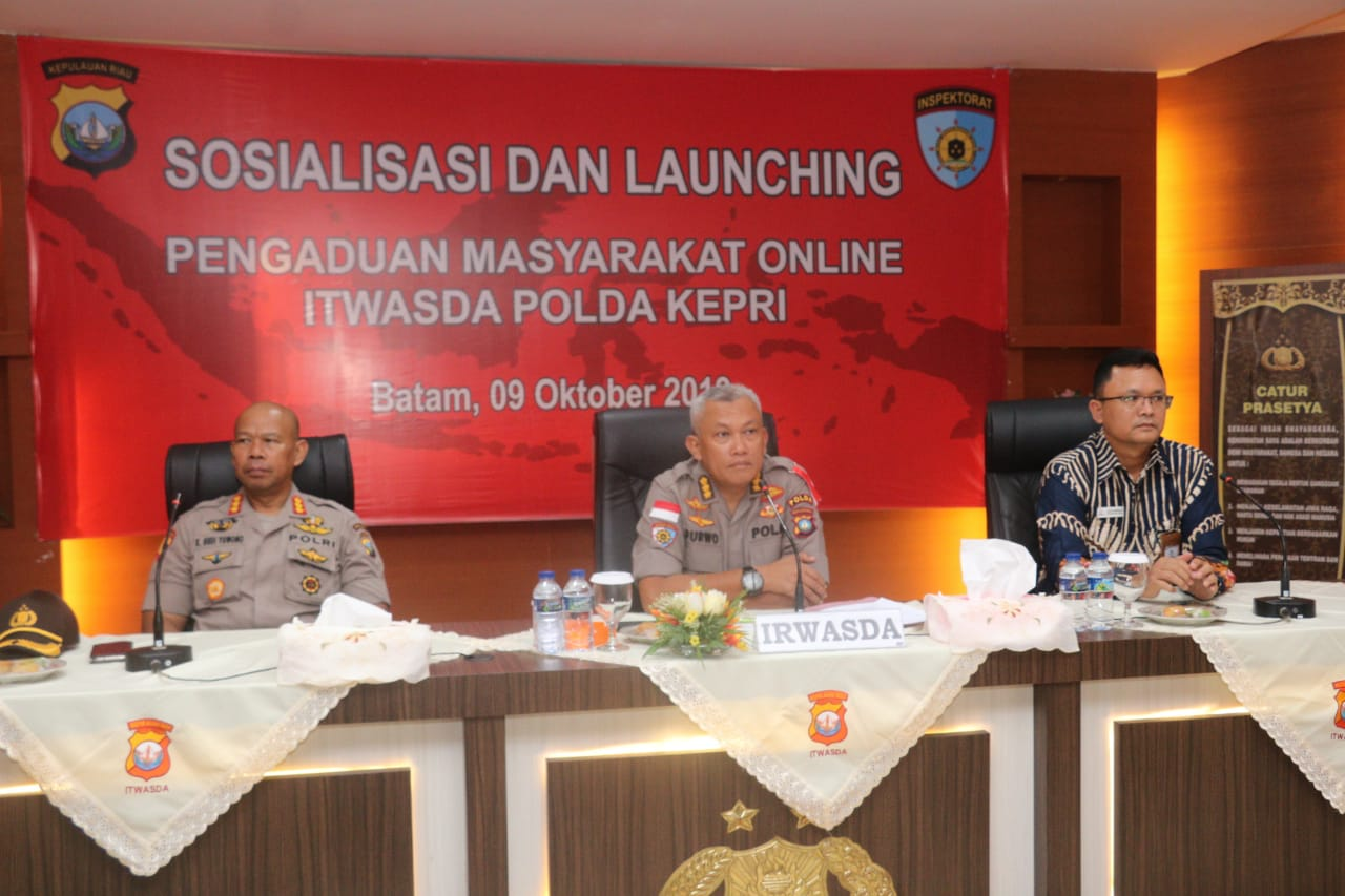 Polda Kepri Launching Website Pengaduan Masyarakat Online