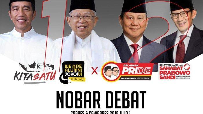 Lokasi Nonton Bareng Debat Capres di Jakarta Malam Nanti