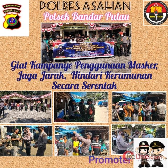 "Disiplinkan Masyarakat, Polsek Bandar Pulau Gelar Kampanye Pakai Masker""!"