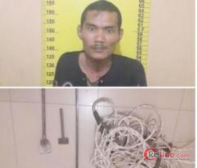 Seorang Pemuda Diamankan Polisi Diduga Hendak Curi Sarang Walet