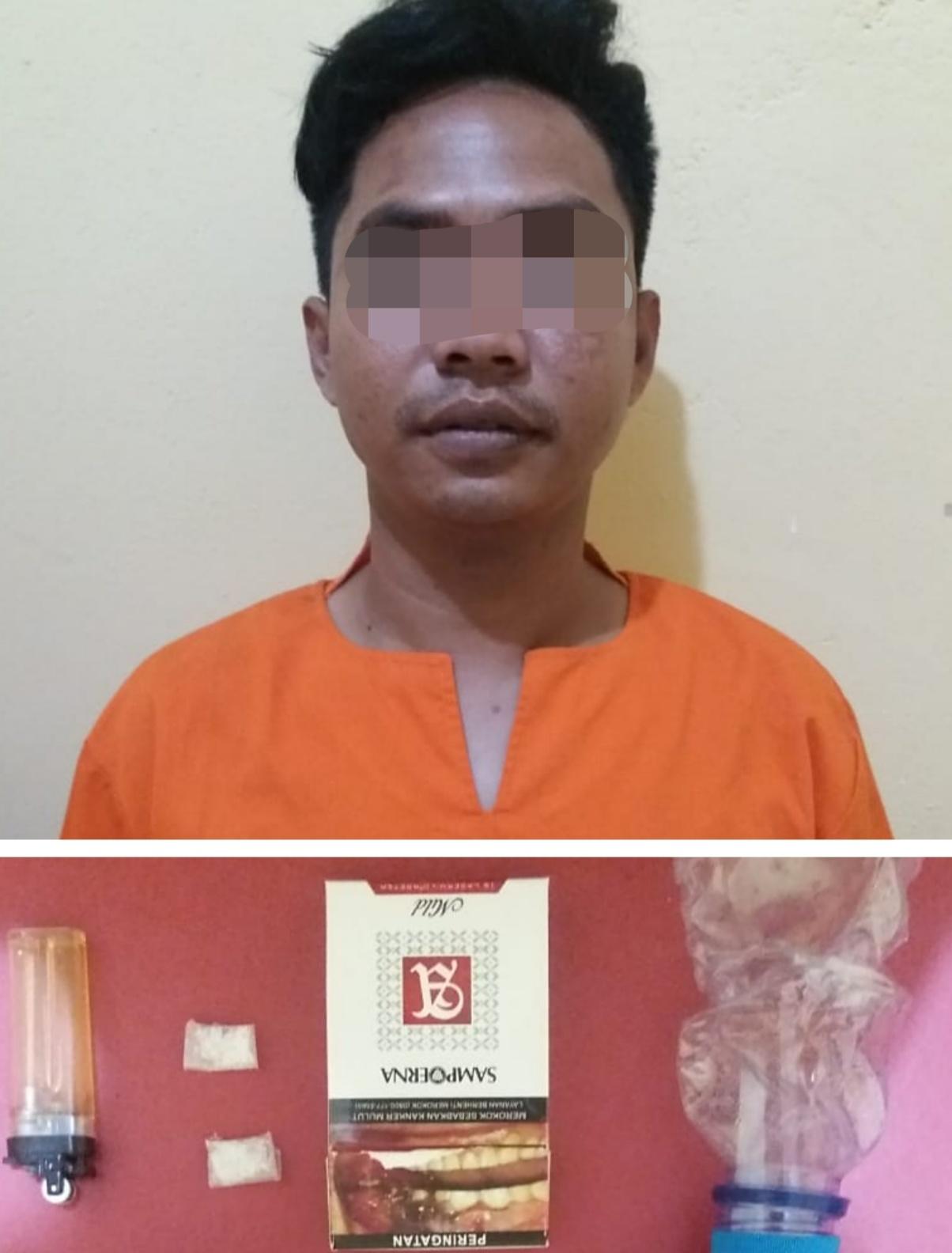 Diduga Jadi Pengedar, Petugas Parkir di Bagan Sinembah di Bekuk  Sat Narkoba Polres Rohil