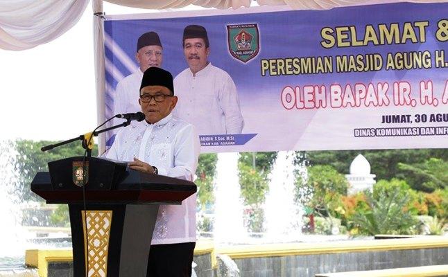 Masjid Agung H. Achmad Bakrie Kisaran Jadi Ikon Wisata Religi