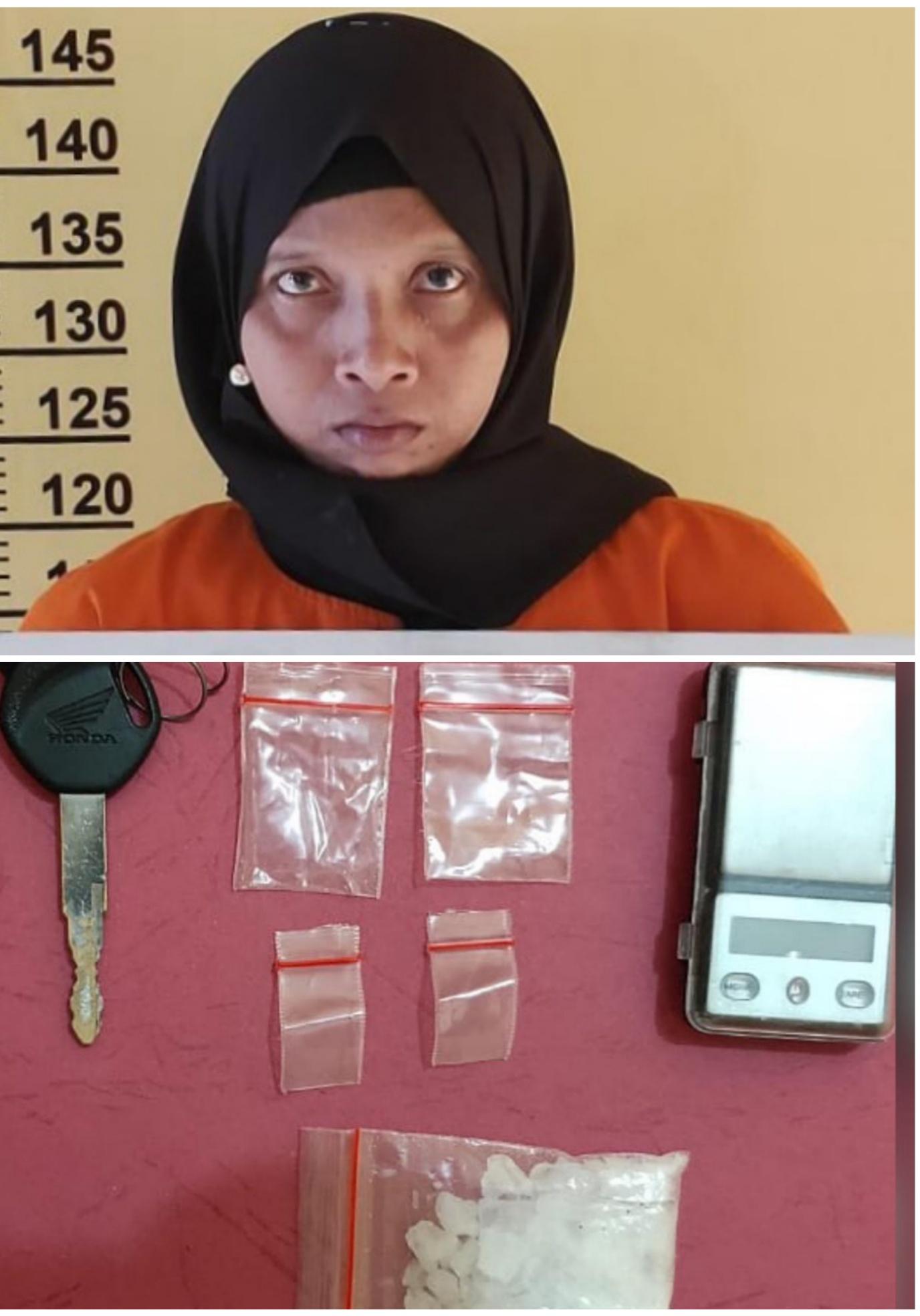 Nekat Jadi Pengedar Sabu, Seorang IRT di Rohil Terpaksa Nginap di Jeruji Besi
