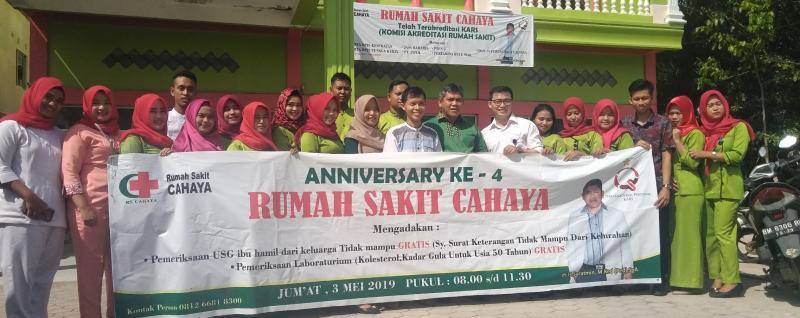 Hari Jadi Ke - 4 , RS Cahaya Ujung Tanjung Berikan Pengobatan Gratis.