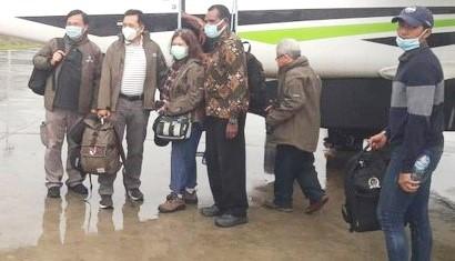 Tim TGPF Saat Investigasi Penembakan di Intan Jaya, Papua Diberondong
