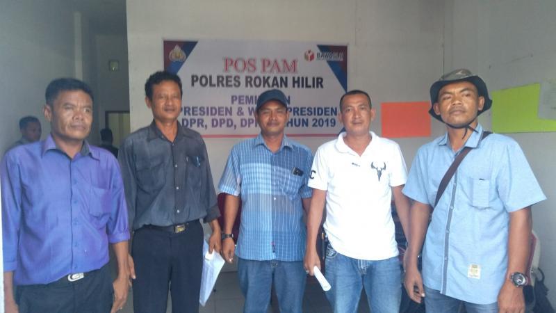 Diduga Ada Kejanggalan Di TPS, Relawan Nasdem Lapor Ke Bawaslu Rohil.