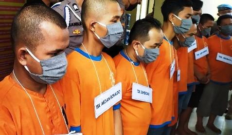 Tim Sat Narkoba Polres Cianjur Amankan 11 Orang Pemakai Narkoba