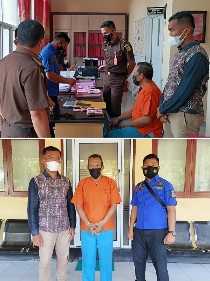 Diduga Korupsi Dana Desa Rp 128 Juta , Seorang Penghulu di Rohil Resmi di Tahan Kejari Rohil