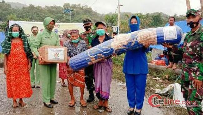 Bantuan Ketum Dharma Pertiwi Untuk Korban Gempa, Warga: Terimakasih Ibu!