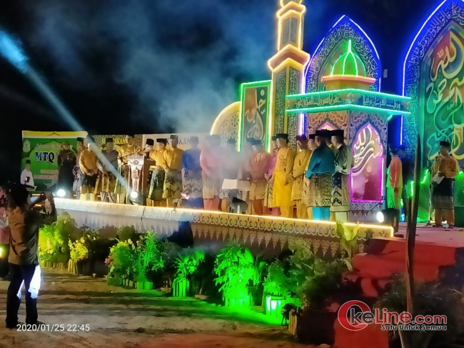 MTQ ke-12 Desa Senggoro Resmi Dibuka. Basrah : Jadikan Al Quran Pedoman Hidup