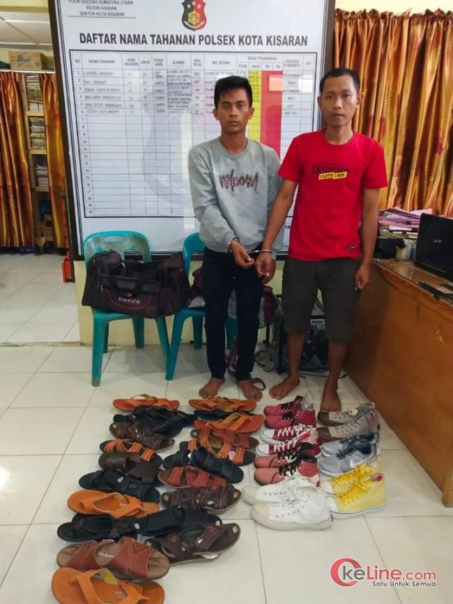 Curi Sandal Dan Sepatu,2 Pelaku ngendap Dipolsek Kota Kisaran