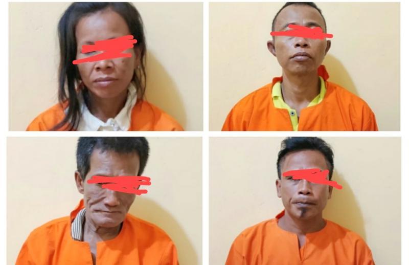 Empat Pelaku Narkotika Sabu Bagan Siapiapi di Bekuk Polisi