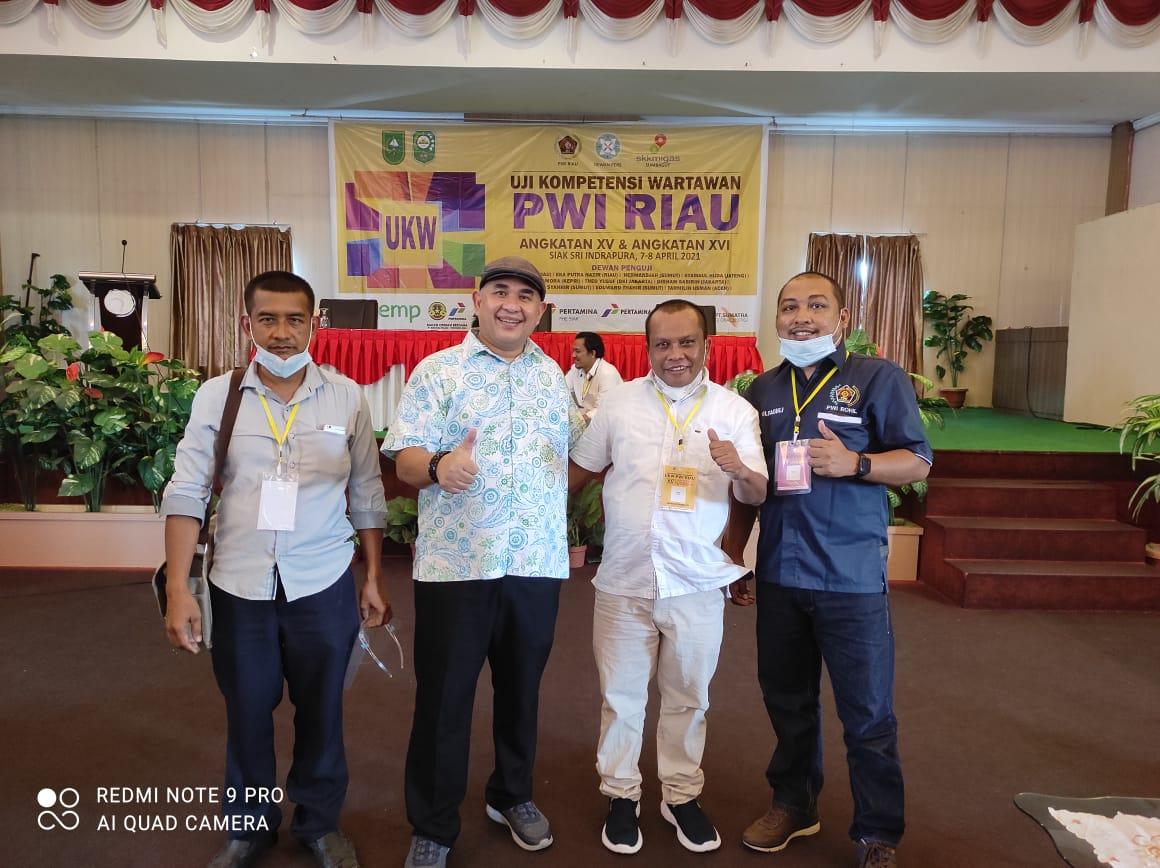 Tiga Anggota PWI Rokan Hilir  Dinyatakan Kompeten Pada UKW Angkatan XV di Siak