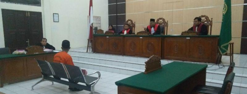 Warga Aceh Mantan DPO Sabu Sabu 15 Kg , Jalani Sidang Perdana