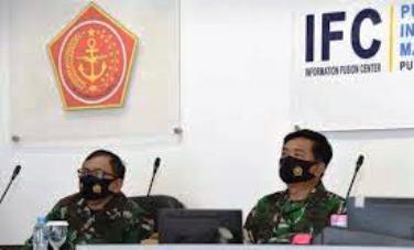 Panglima TNI Hadi Tjahjanto Tinjau Pusinfomar TNI