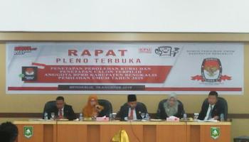 Ketua KPU Bengkalis Pimpin Langsung Rapat PlenoTerbuka