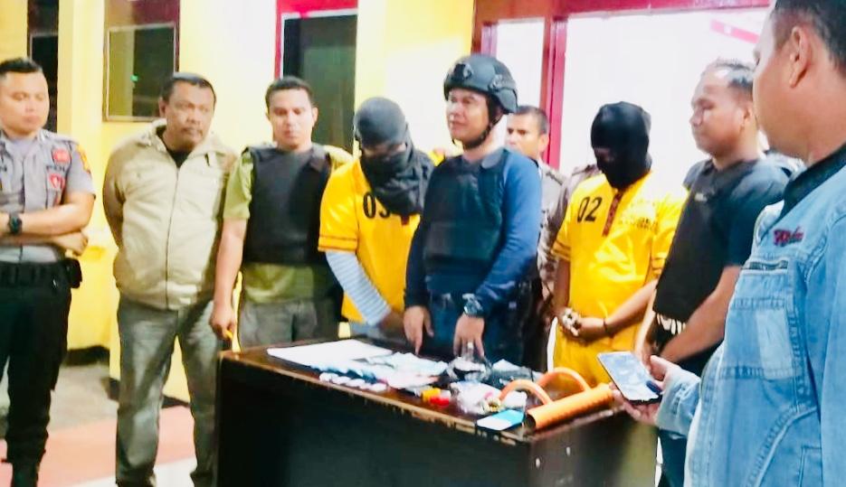 Polsek Bangko Ciduk Dua pelaku Narkotika, satu Orang Diduga Oknum ASN Rohil