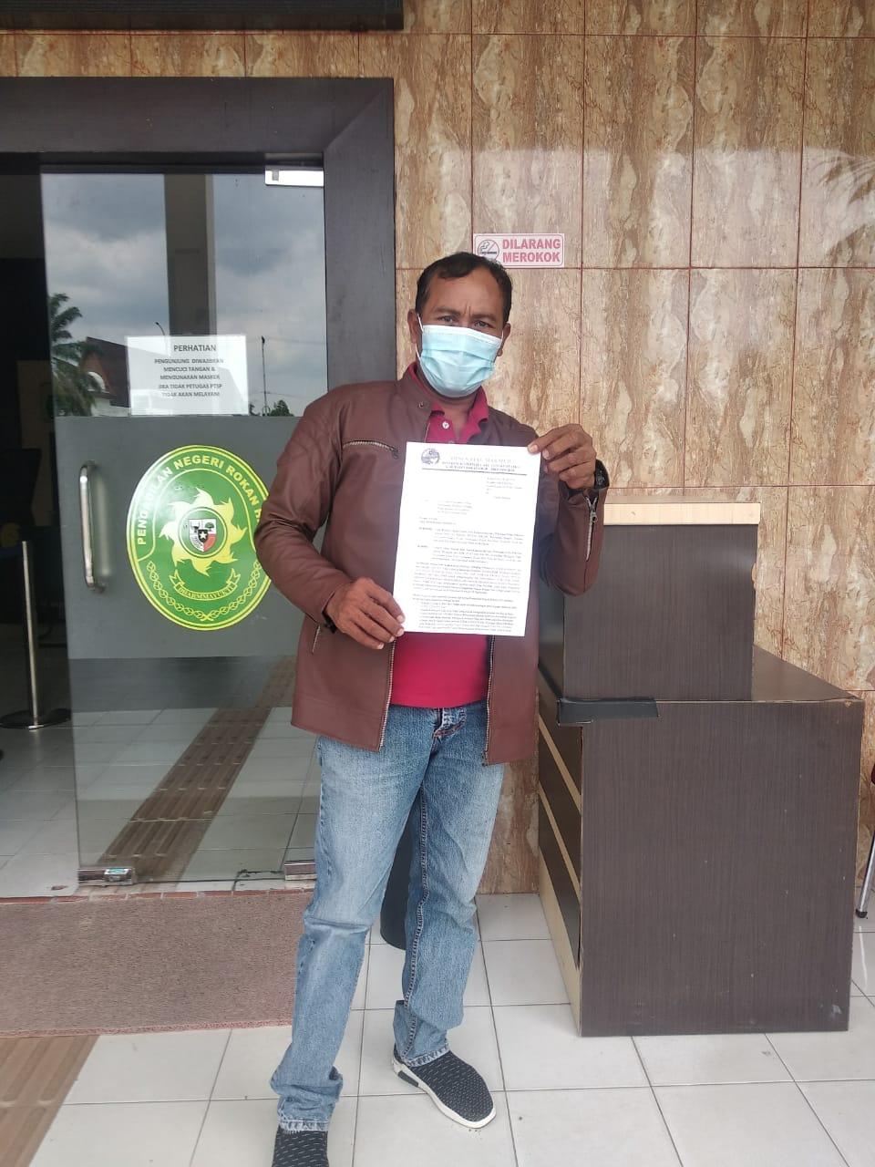 Dinilai  Eksekusi Tidak Sesuai Putusan, KTJA Ajukan Surat Ke Ketua PN Rohil