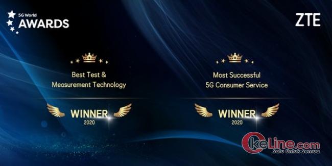 ZTE Sukses Sabet Dua Penghargaan di ajang 5G World 2020