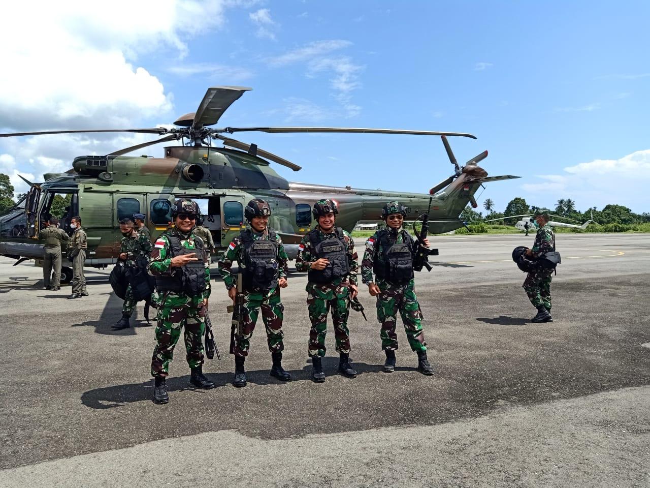 Pasukan Satgas Yonif Raider Linud 501/Bajra Yudha, di Sambangi Danrem 174 Merauke