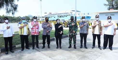 Puan Maharani, Panglima TNI dan Kapolri Tinjau Lokasi Penyekatan Mudik 2021