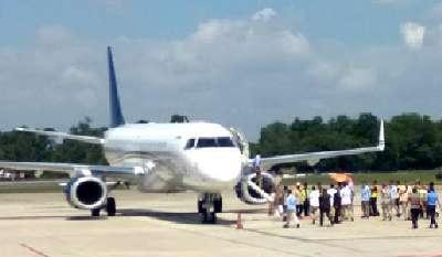 Ingatkan Pengguna Dokumen Perjalanan Swab Palsu di Bandara SSK II Pekanbaru AVSEC Gandeng Polri