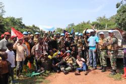 Gelar Operasi Sadar-01, Satgas Konga XXXIX-A Berhasil Dapatkan Senjata Ak-47 dan Pistol FN