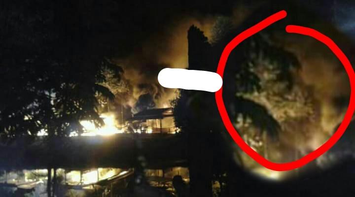 Geger, Warga Lihat Gendorowo Pada Kebakaran Gudang Polres Siak