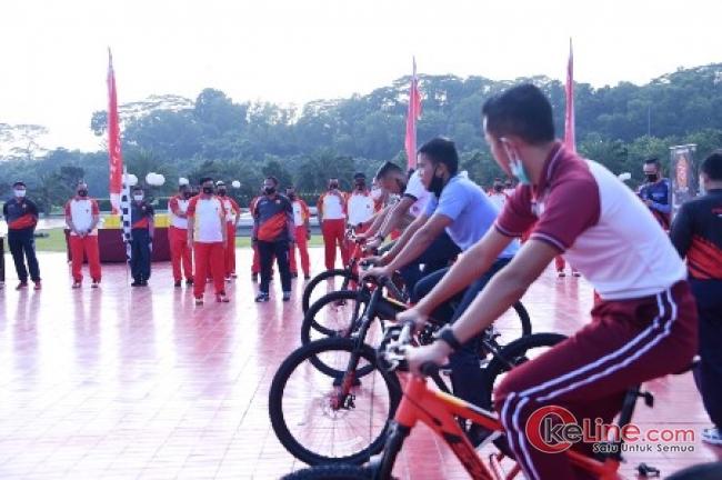 Lomba Bersepada TNI-Pacific Virtual Fun Bike Dimulai