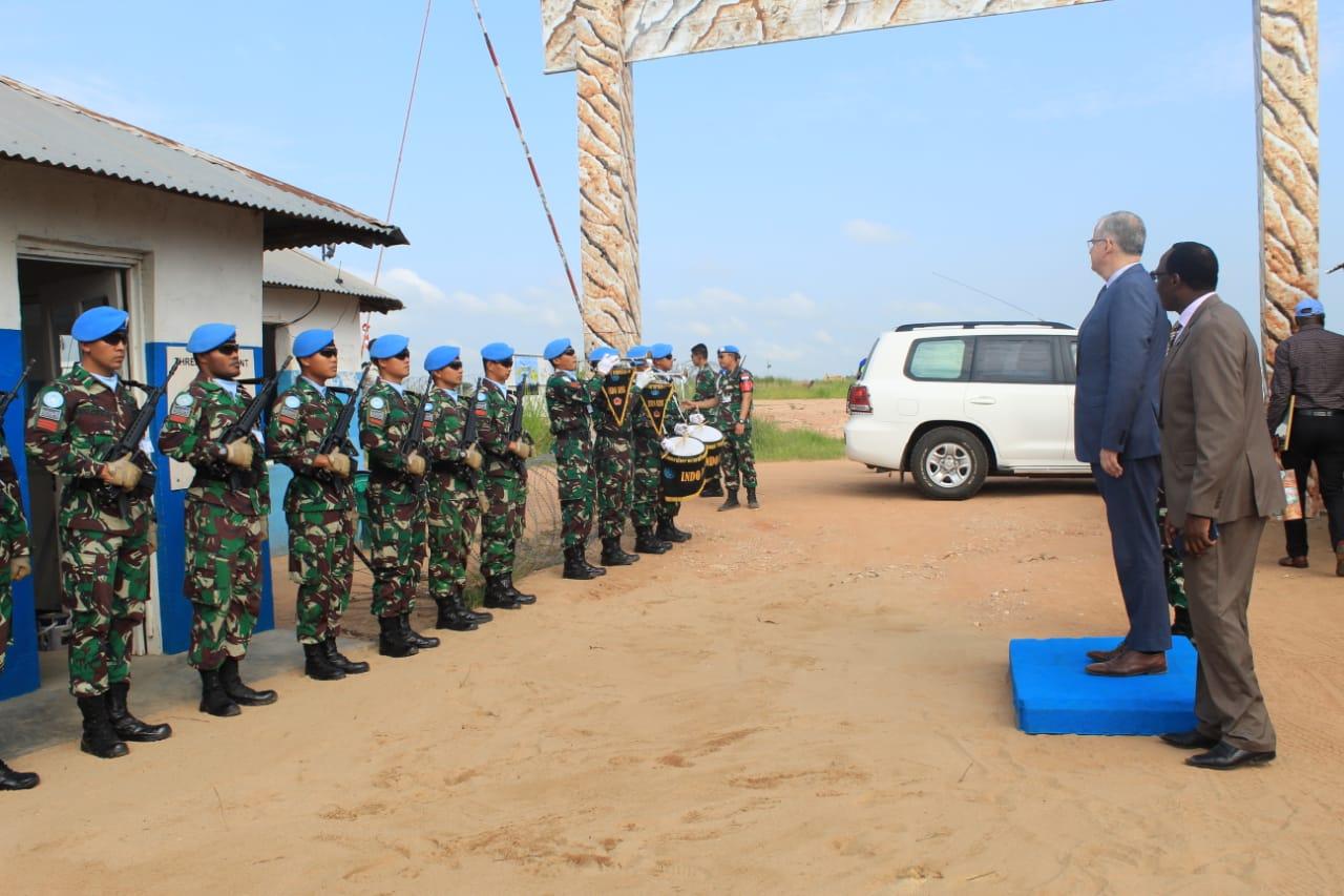 Sekjen PBB Kunjungan Satgas Konga TNI XXXIX-B RDB di Afrika
