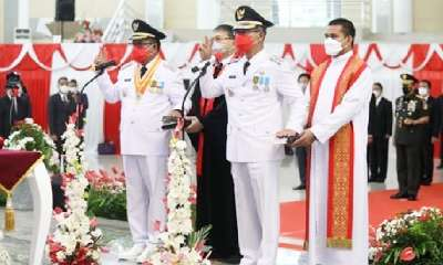 MM-HH Dilantik Menjadi Wali Kota dan Wakil Walikota Bitung