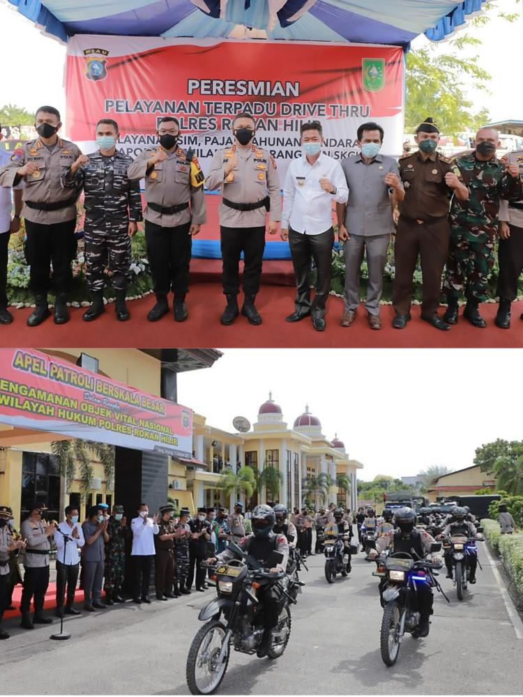 Kapolda Riau Pantau Kesiapan Pengamanan Objek Vital dan Canangkan Aplikasi BSR di Rohil