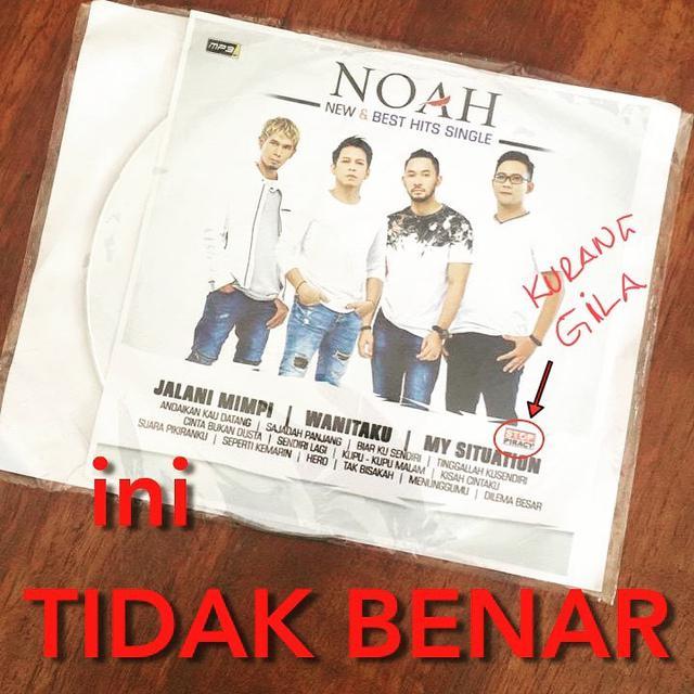 Album Baru Noah Dibajak. Ariel Marah Tak Karuan
