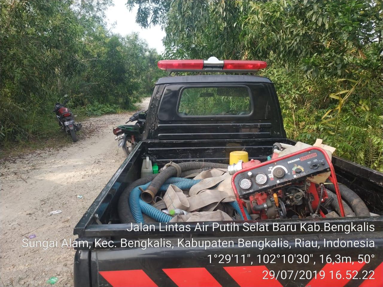 Kebakaran Hutan Dan Lahan Terjadi di Desa Pasiran Bengkalis