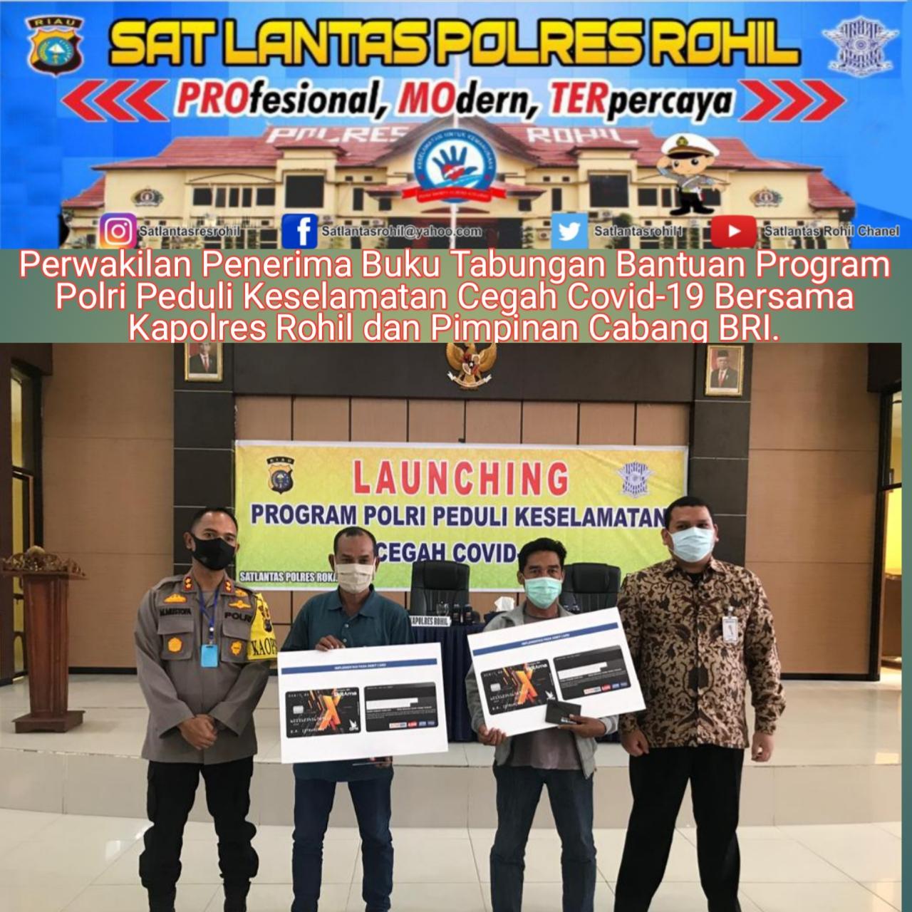 Kapolres Rohil Pimpin Acara Launching Program Polri Peduli Keselamatan Cegah Covid -19